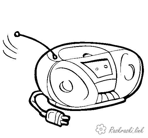 Розмальовки День радіо розмальовки свята, День радіо, радіо, магнітофон