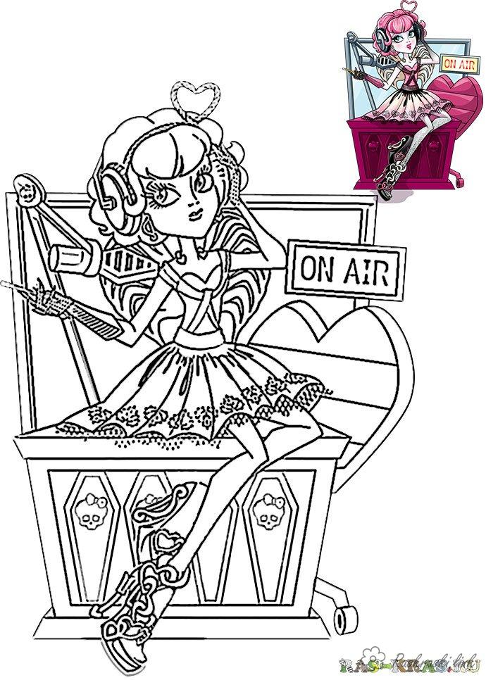 Coloring Radio day coloring pages holidays, Day of radio, radio, girl