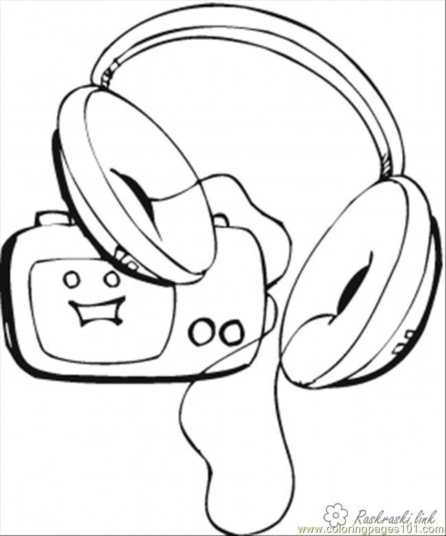 Розмальовки День радіо розмальовки свята, День радіо, радіо, навушники
