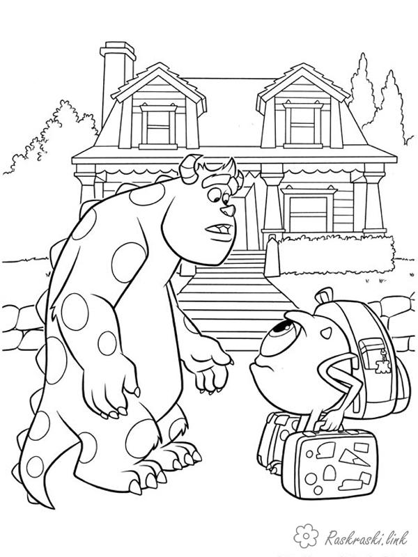 Coloring Monster University coloring pages cartoons, coloring pages University of monsters, monsters