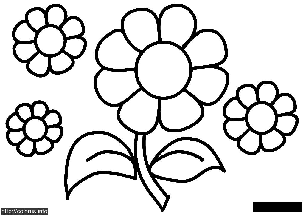 Coloring Simple coloring pages for kids floret