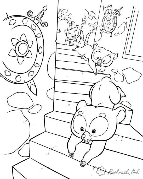 Coloring Brave coloring pages brave hearts, teddy bears, stairs