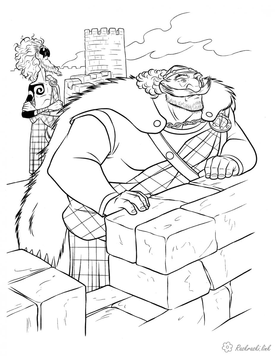 Coloring Brave coloring pages Brave, King, father