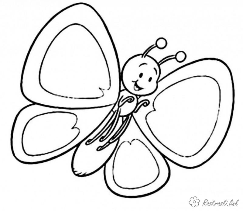 Coloring Simple coloring pages for kids Butterfly coloring pages