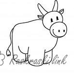 Coloring Simple coloring pages for kids coloring pages Calf
