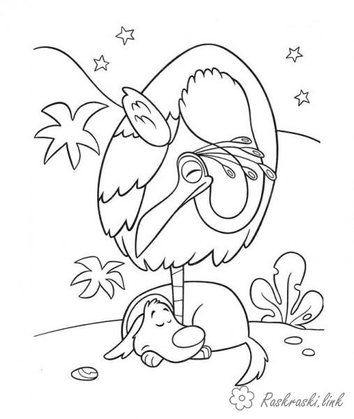 Coloring Up coloring pages cartoons, cartoon coloring pages up, bird, dog