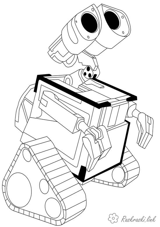 Coloring looks coloring pages cartoons, coloring pages Valley, robot Valley