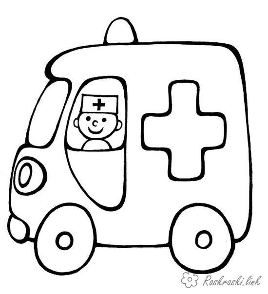 Coloring Simple coloring pages for kids coloring pages ambulance