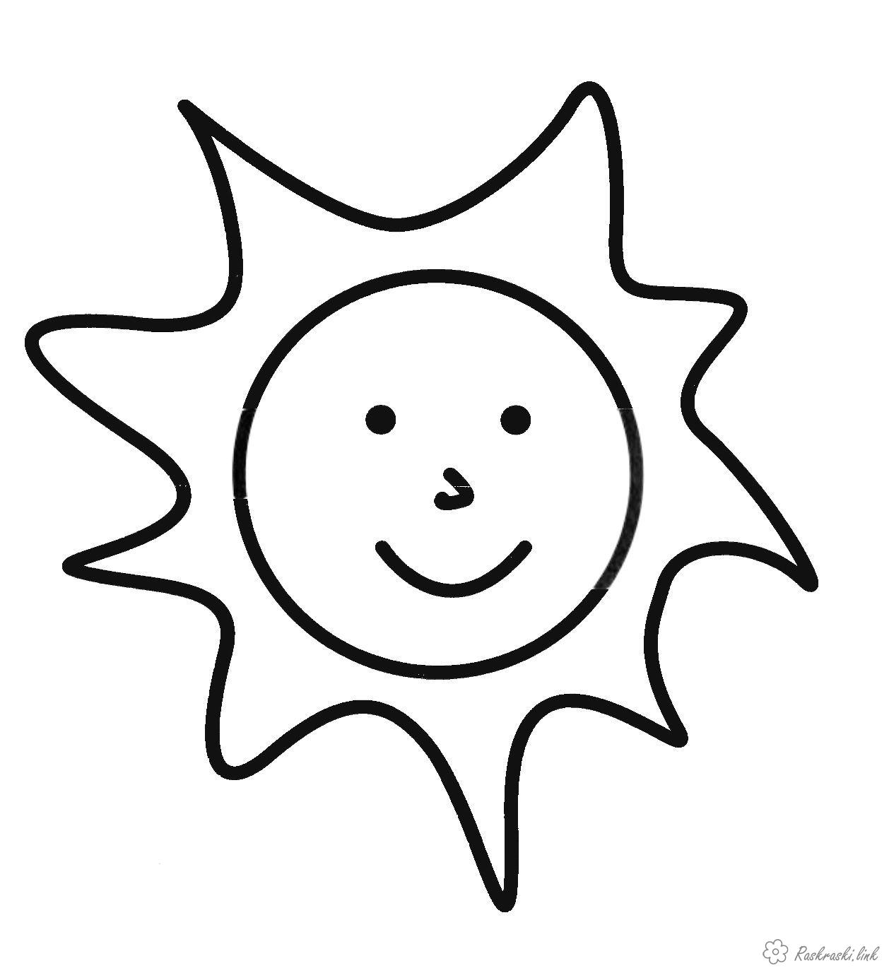 Coloring Simple coloring pages for kids Fun sun coloring pages