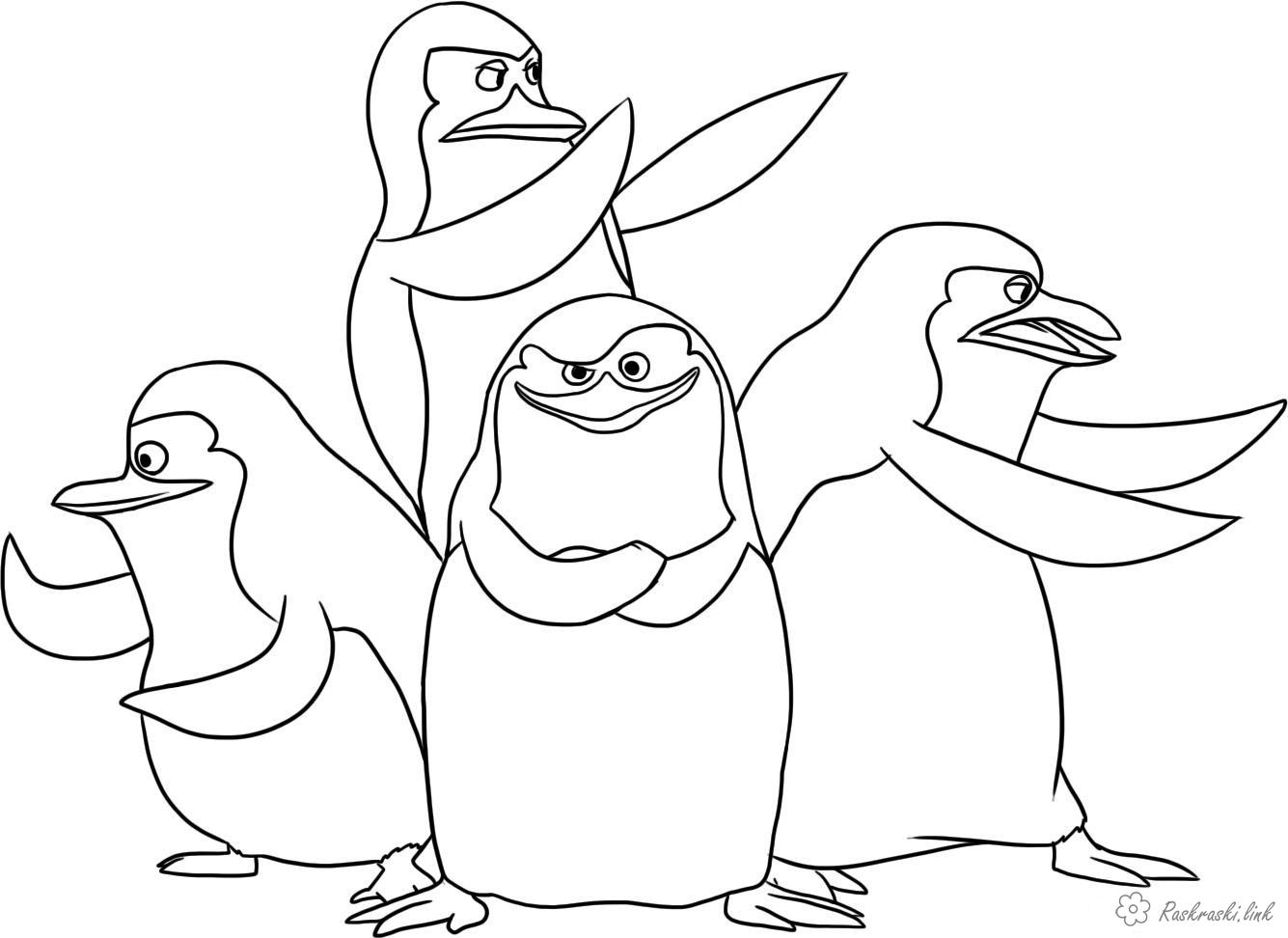 Coloring The Penguins of Madagascar coloring pages cartoons coloring pages Penguins of Madagascar Penguins