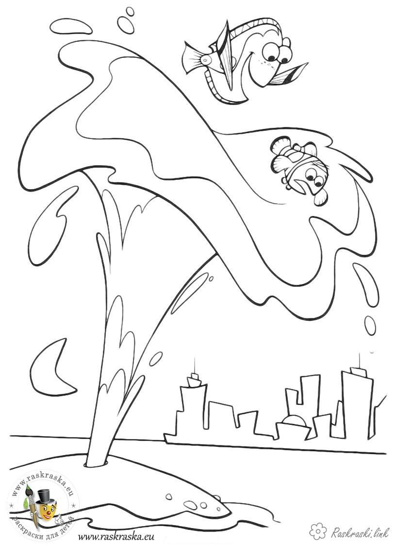 Розмальовки місто Дитяча розфарбування в пошуках немо, місто