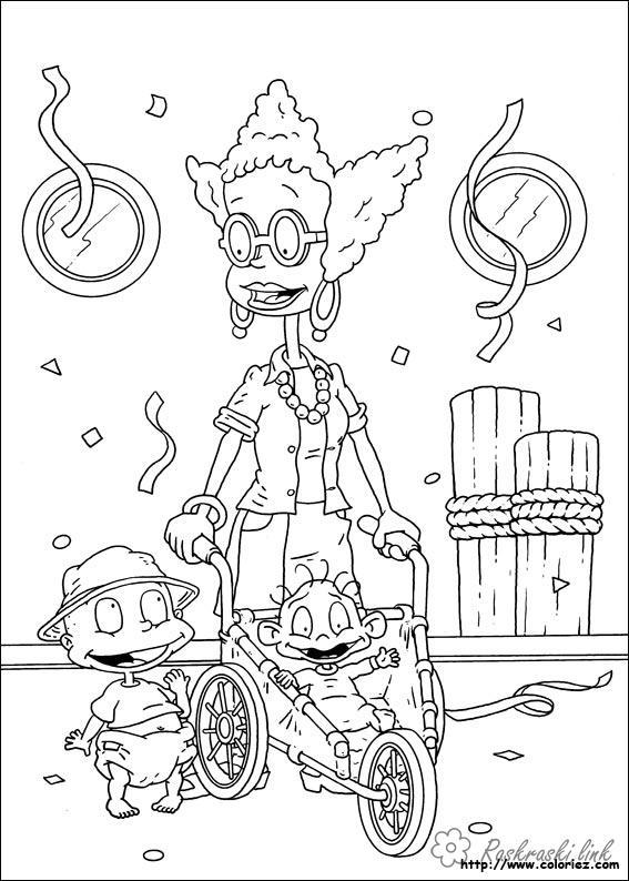 Розмальовки Ох вже ці дітки розмальовки мультфільми, Nickelodeon розмальовки, Томмі, Діл, дитина, дітки