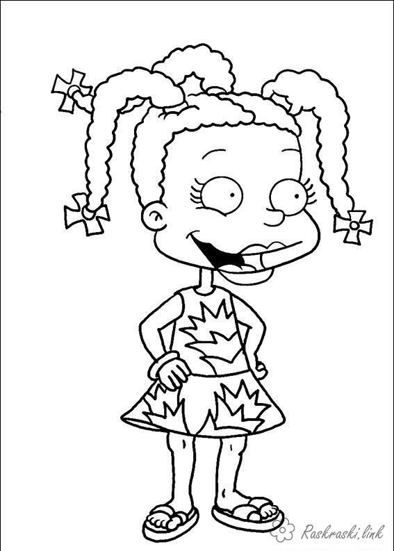 Розмальовки Ох вже ці дітки розмальовки мультфільми, Nickelodeon розмальовки, Сьюзі, дівчинка, дітки