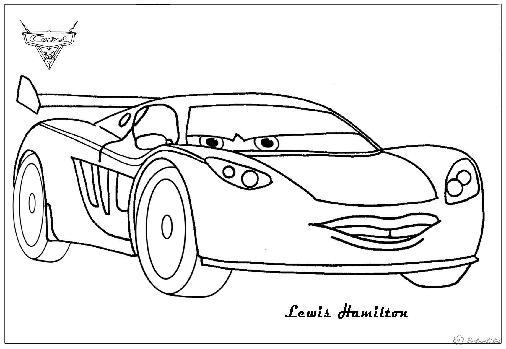 Coloring cars 2 Детская раскраска по мультфильму тачки 2