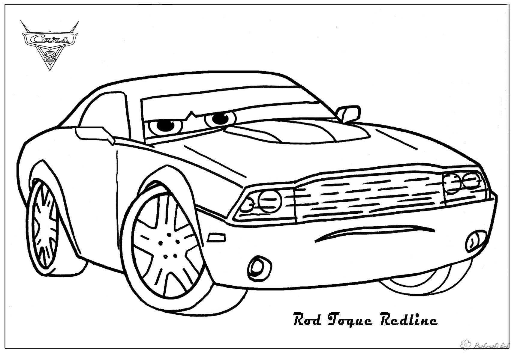 Coloring cars 2 Детская раскраска по мультфильму тачки 2, машины