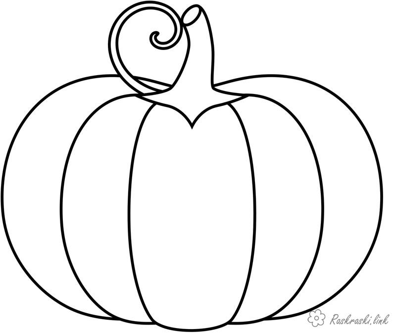 Coloring Simple coloring pages for kids pumpkin