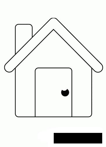 Coloring Simple coloring pages for kids very simple house