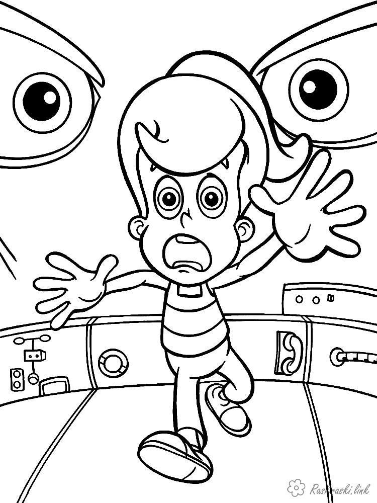 Розмальовки Джиммі нейтрон розмальовки мультфільми, Nickelodeon розмальовки, Джиммі Нейтрон, Сінді, дівчинка