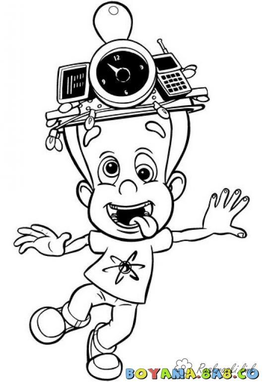 Розмальовки Джиммі нейтрон розмальовки мультфільми, Nickelodeon розмальовки, Джиммі Нейтрон, хлопчик
