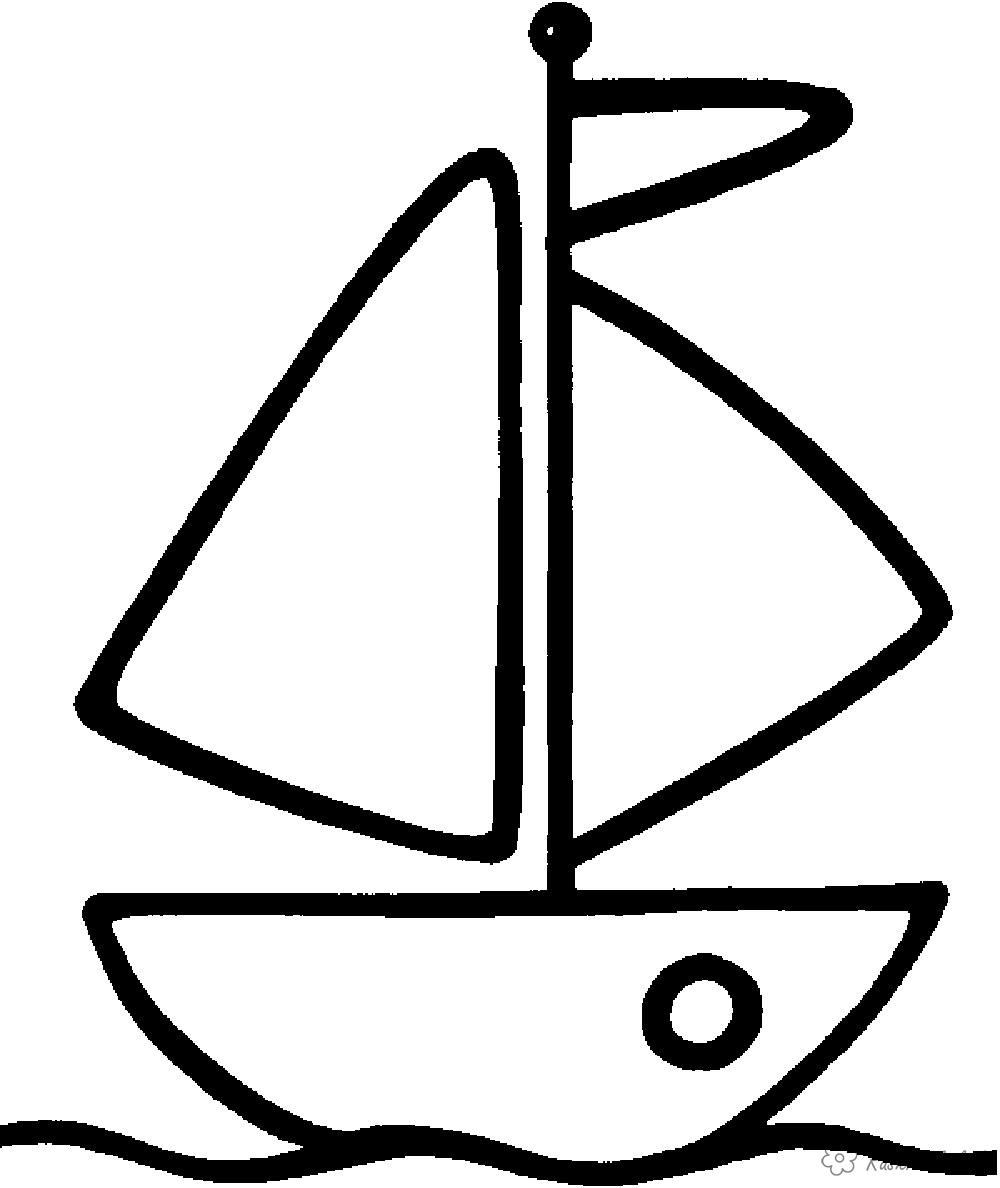 Coloring Simple coloring pages for kids Ship