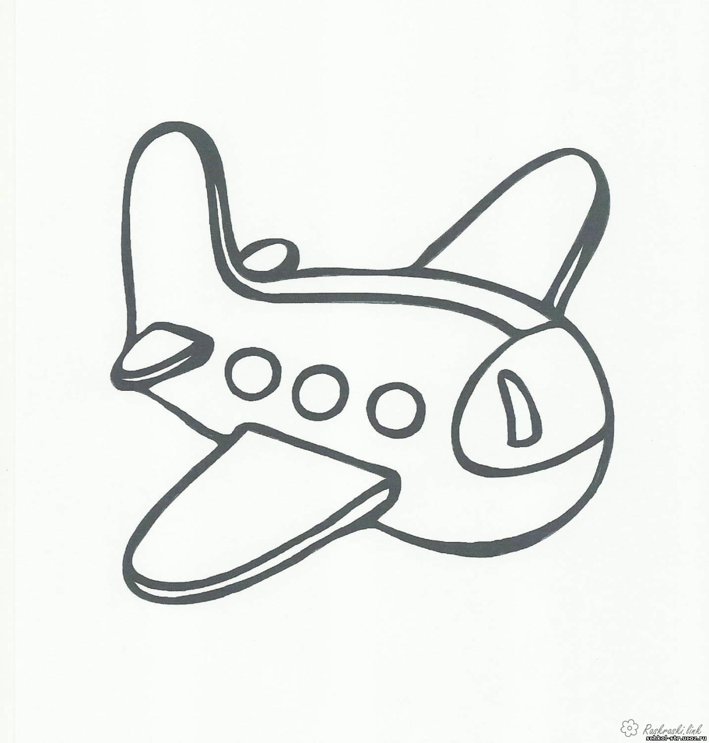 Coloring Simple coloring pages for kids aircraft