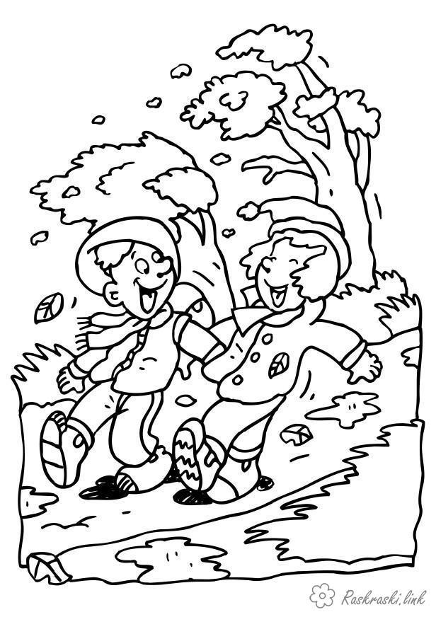 Раскраски природы раскраски явления природы, ветер раскраски, дети
