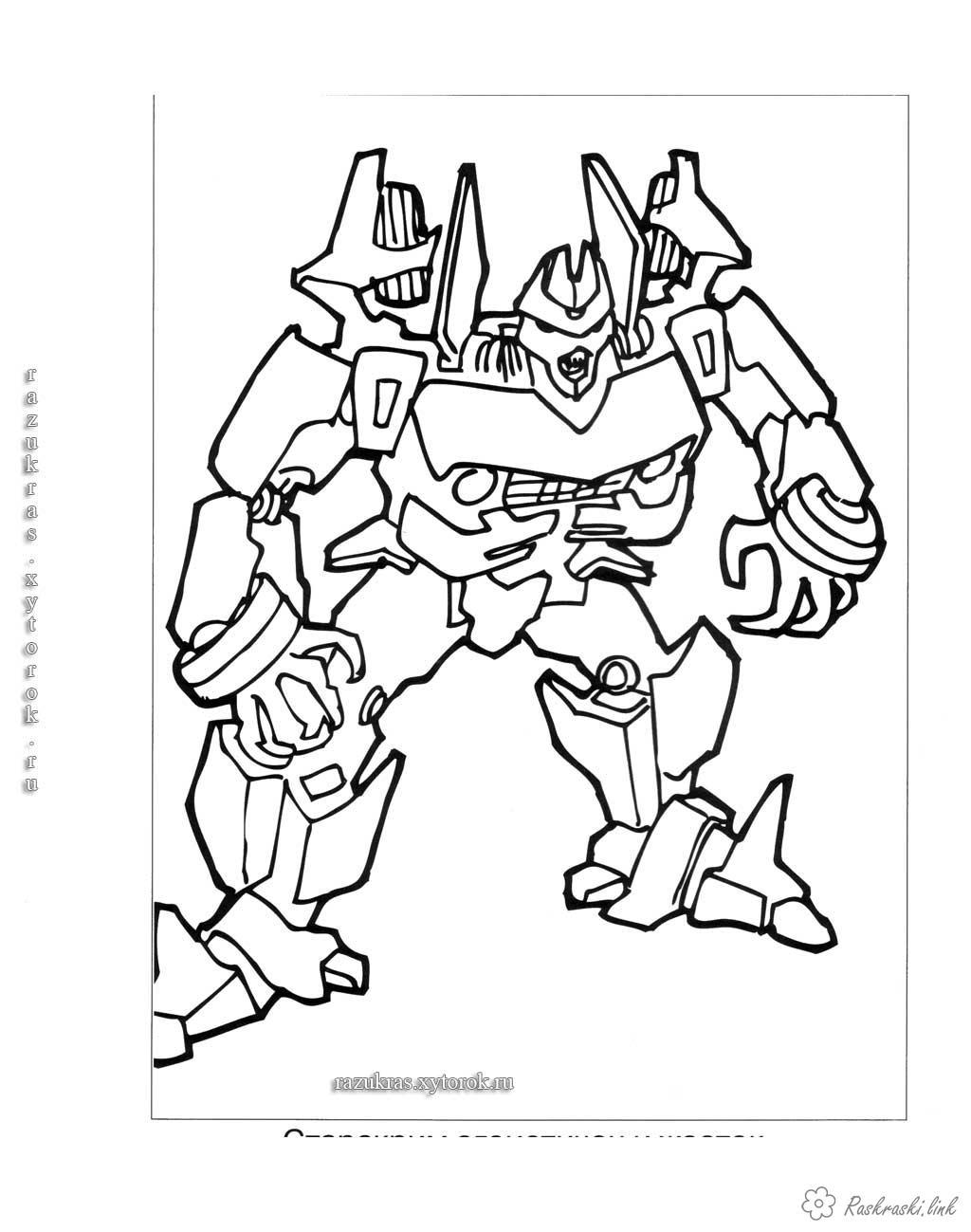 Розмальовки робот робот трансформер