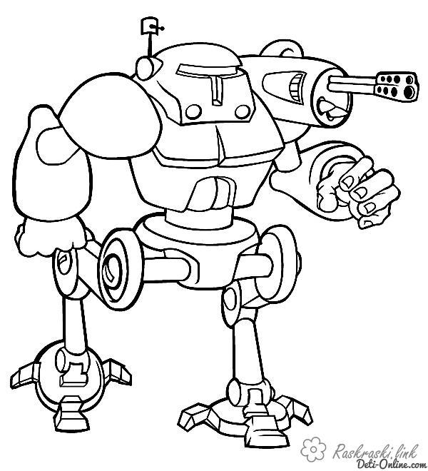 Roboty Raskraski Raspechatat Besplatno
