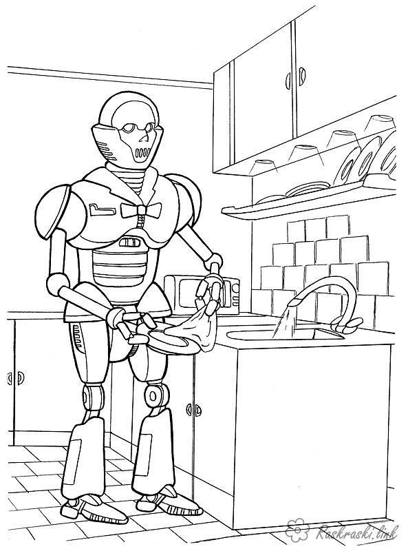 робот Раскраски распечатать бесплатно.