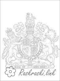 Coloring British flag British coat of arms coloring pages