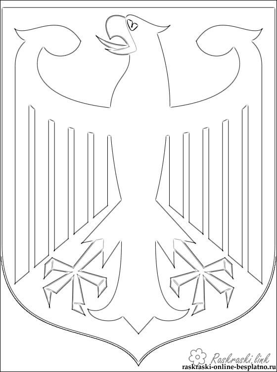Coloring flag Germany Coat coloring pages