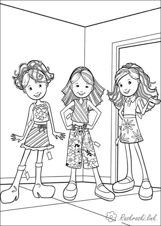 Розмальовки дівчатка праздні1 червня День захисту дітей дівчинки