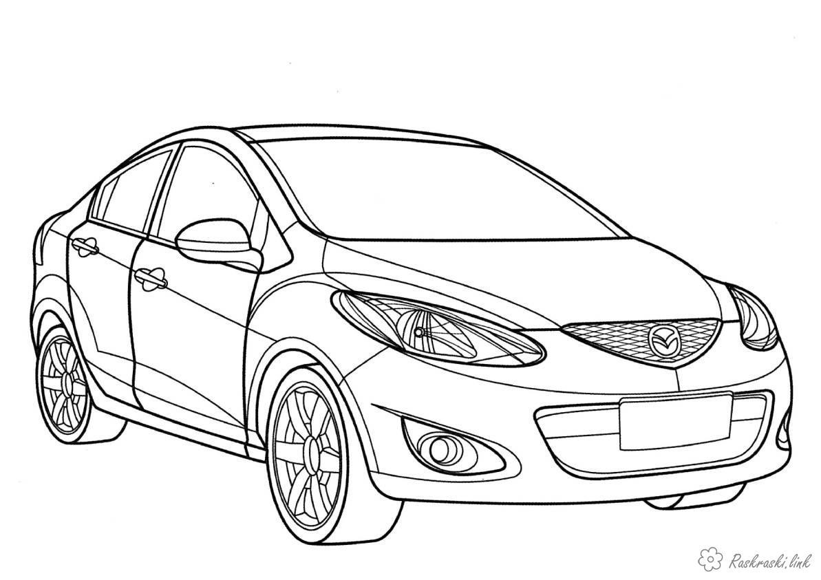 Раскраски машины Mazda раскраска для мальчиков