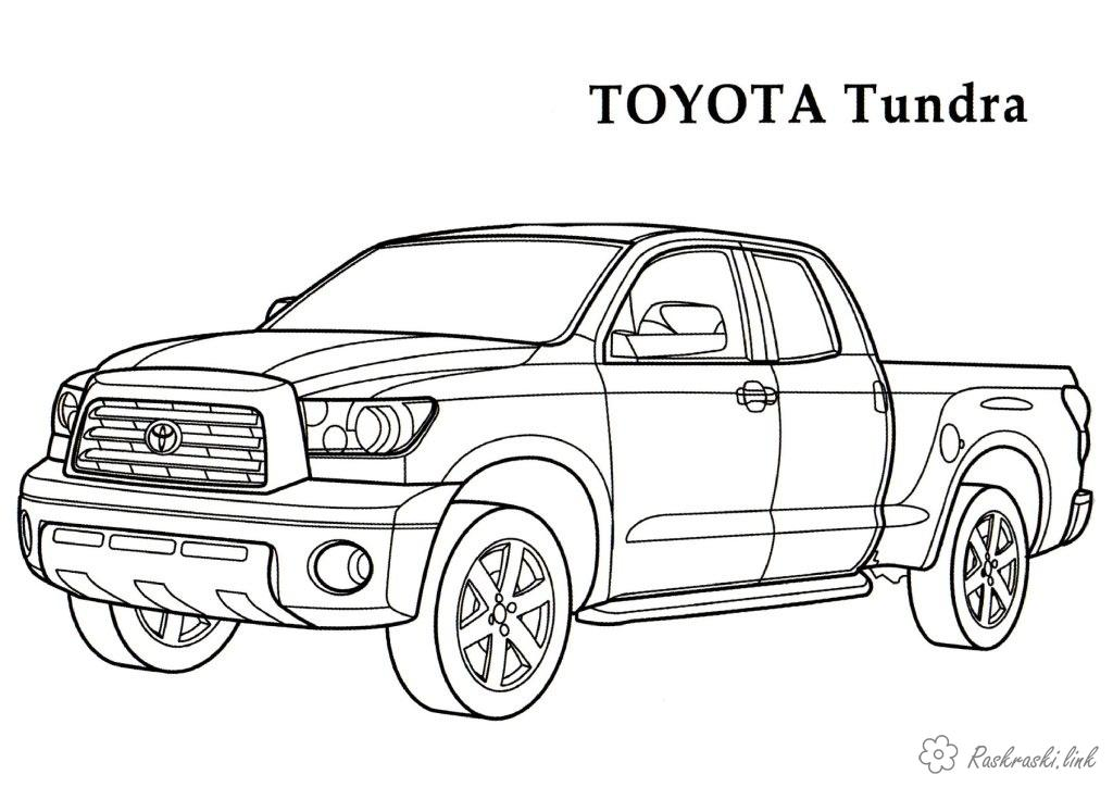 Coloring Cars coloring pages Jeep SUV for boys