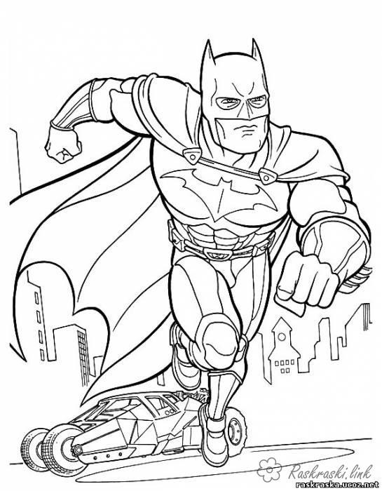 Coloring Superheroes coloring pages superheroes for boys Batman