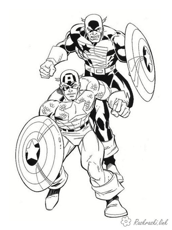Розмальовки дві Розмальовки для дітей, з коміксів, супергерої
