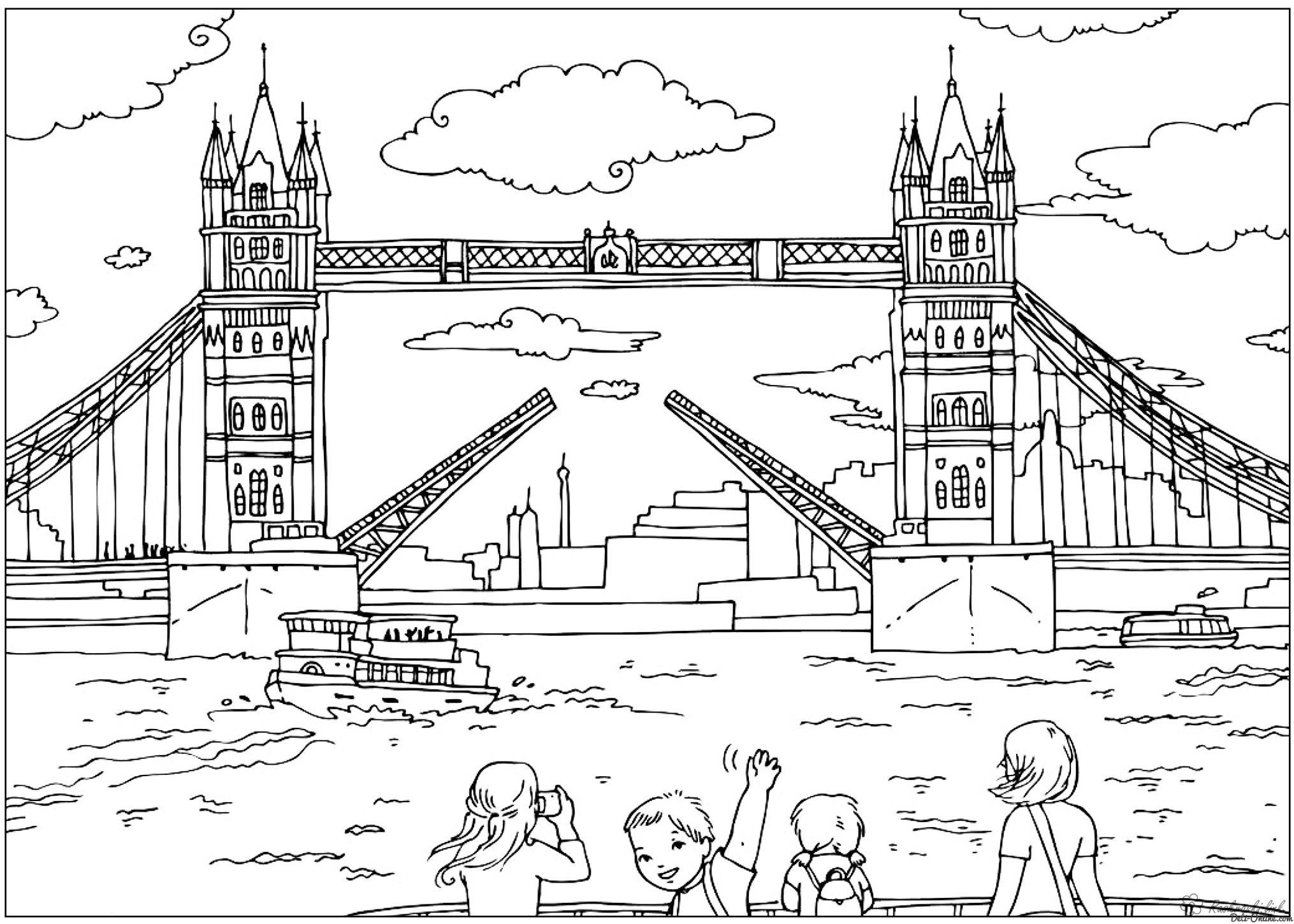 Coloring London coloring pages Bridge, England
