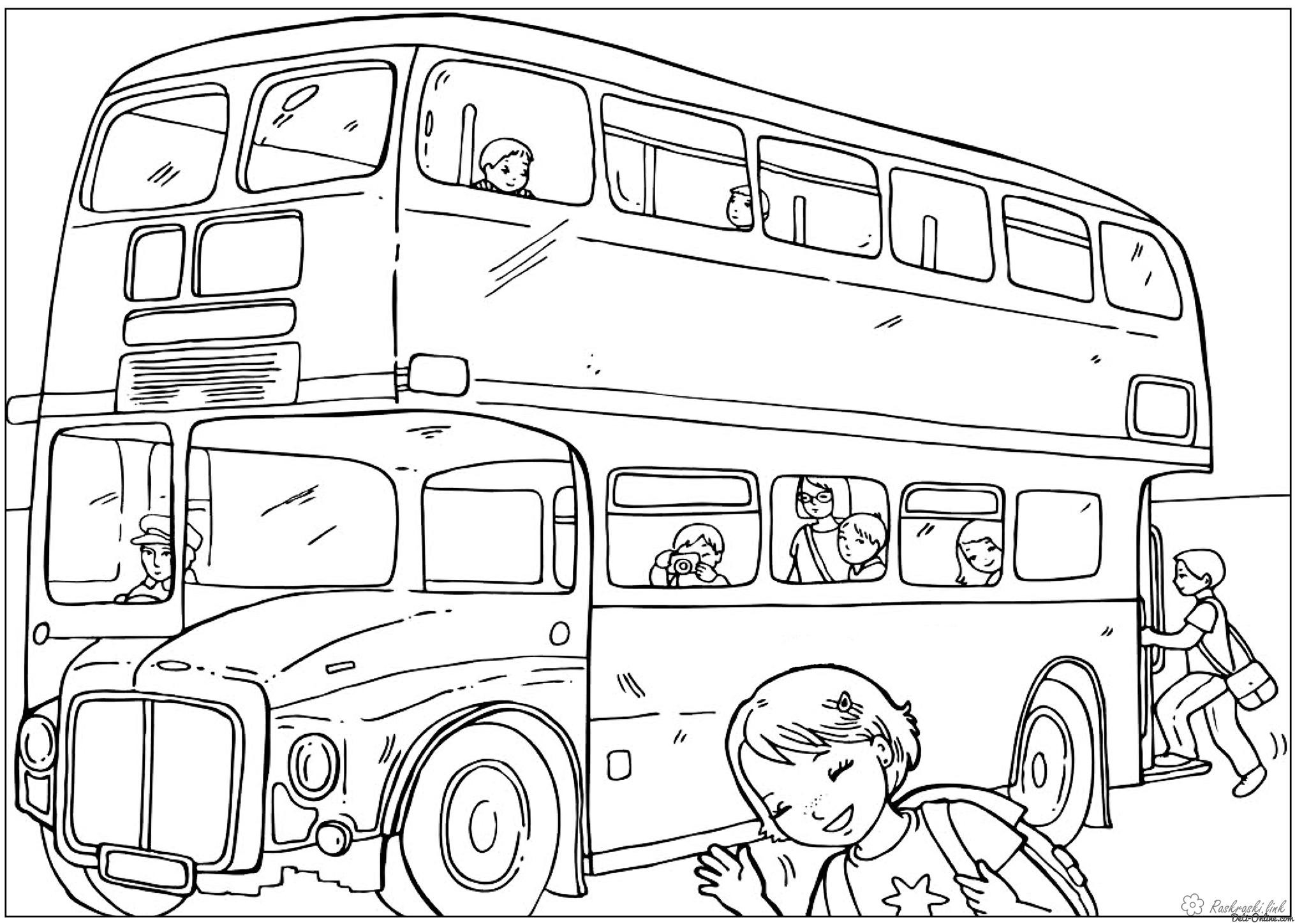 Coloring London Bus coloring pages, England