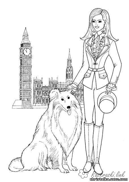 Coloring London English girl coloring pages, England