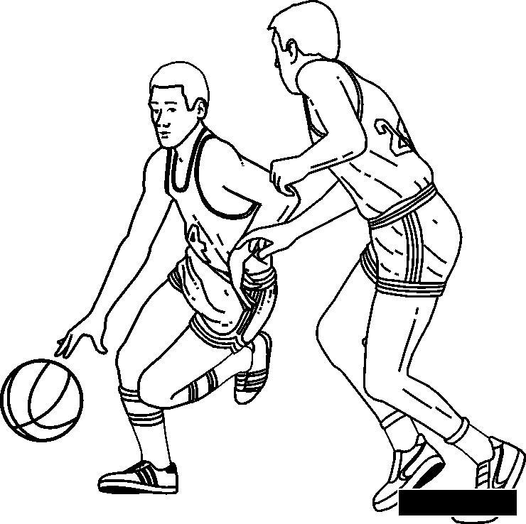 Розмальовки ігри гра в баскетбол розфарбування, спортивні ігри розфарбування