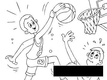 Розмальовки ігри баскетбол розфарбування, спортивні ігри розфарбування