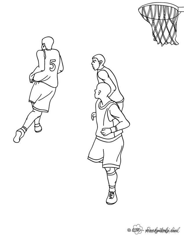 Розмальовки ігри ведення м'яча баскетбол розфарбування, спортивні ігри розфарбування