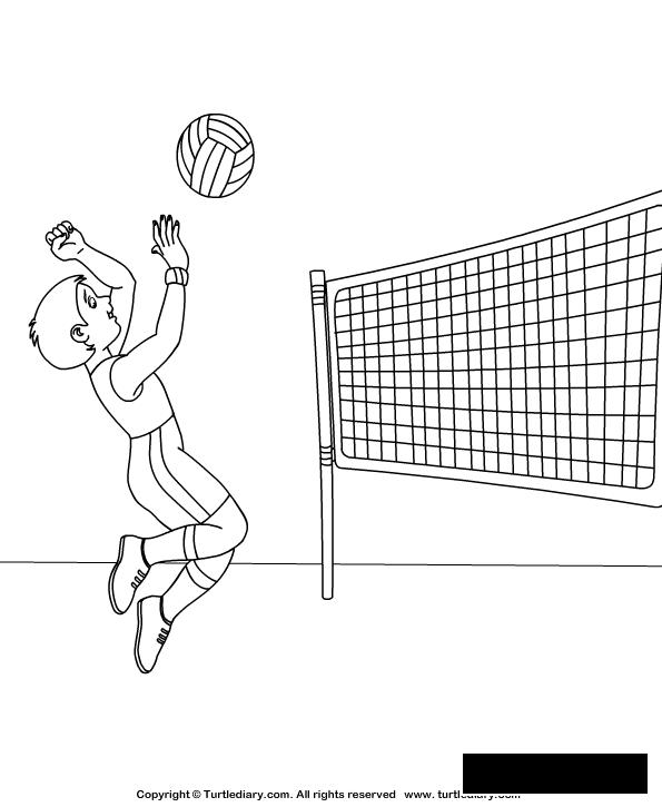 Coloring Volleyball volleyball player coloring pages