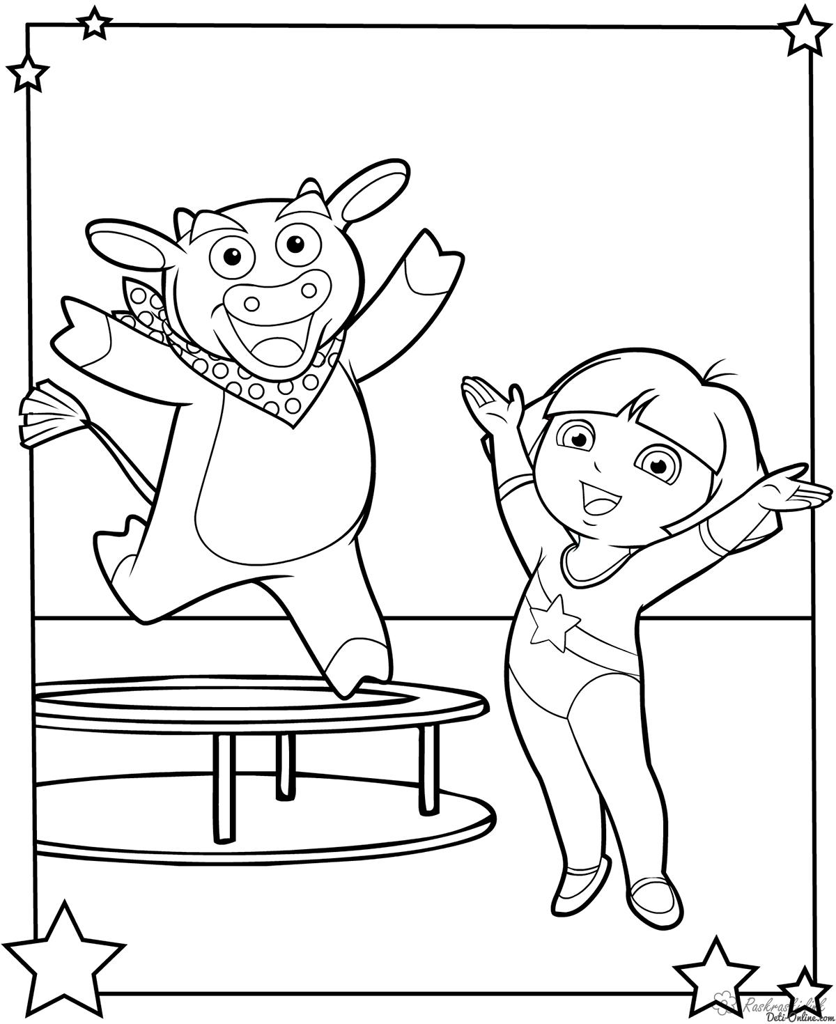Розмальовки Гімнастика Гімнастика розфарбування, спорт розфарбування, для дітей розфарбування