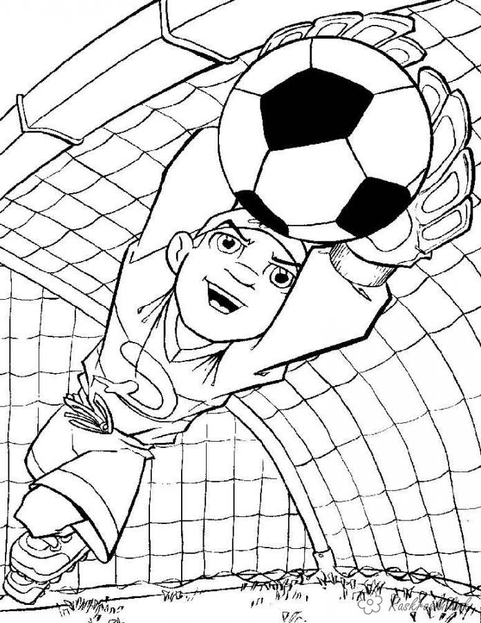 Coloring Football Goalkeeper coloring pages, football, sports, Olympics