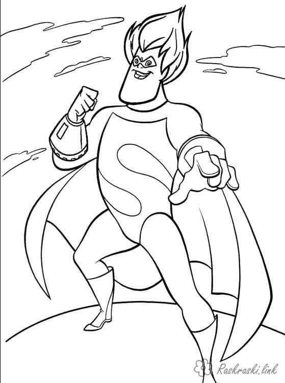 Coloring incredibles coloring pages books for children, a super little family, superheroes