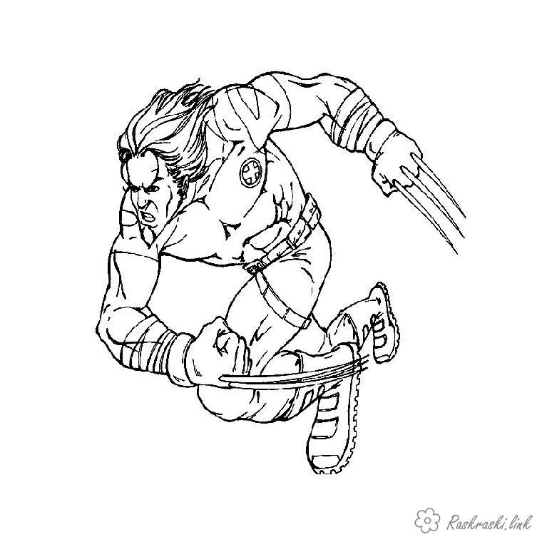 Coloring Superheroes coloring pages, X-Men, rassomaha, Comics