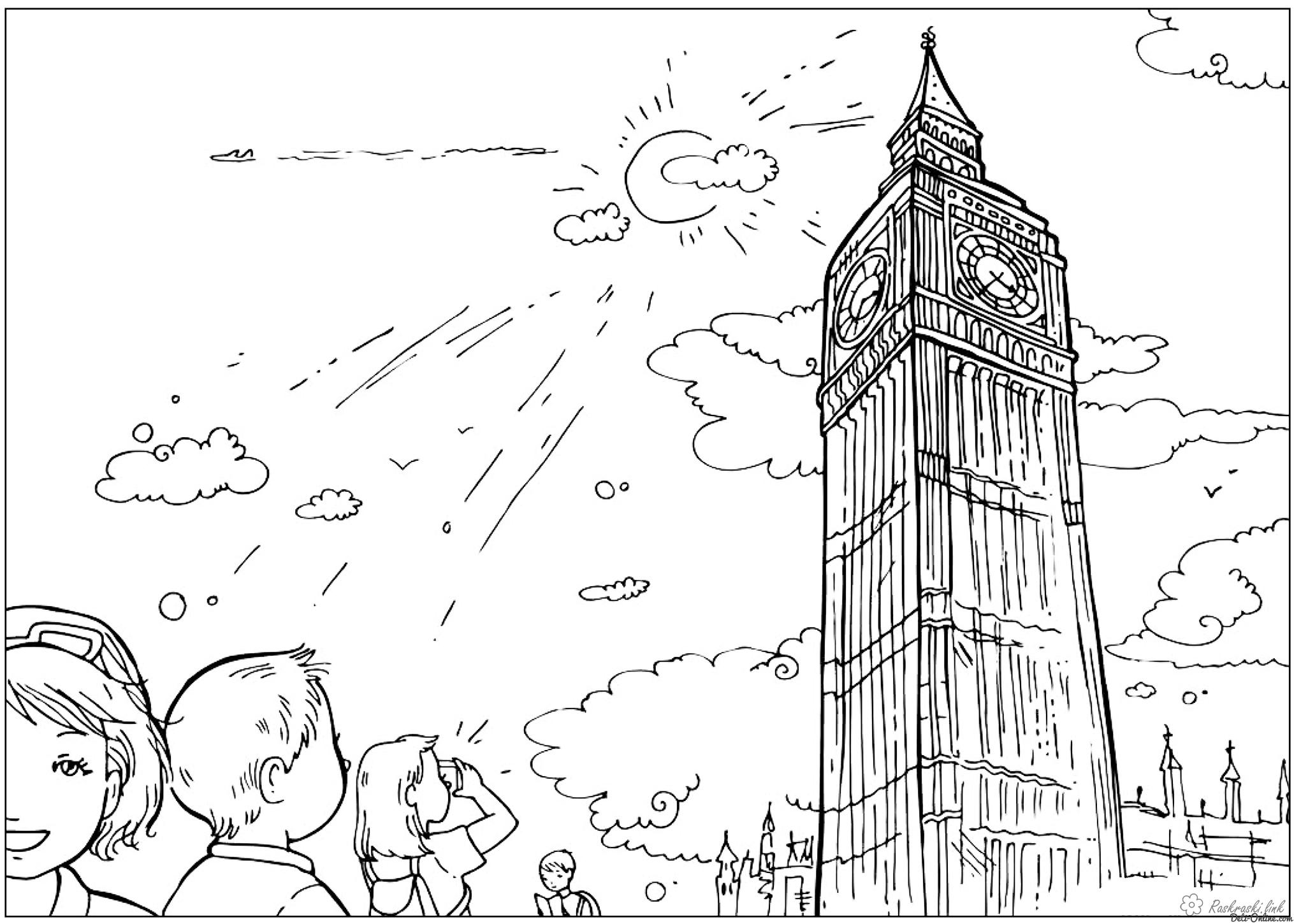 Coloring London coloring pages Big Ben United Kingdom England attractions