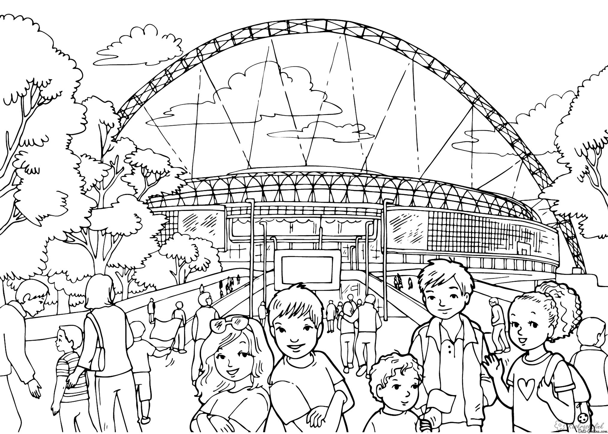 Coloring London Kids coloring pages Wembley United Kingdom England