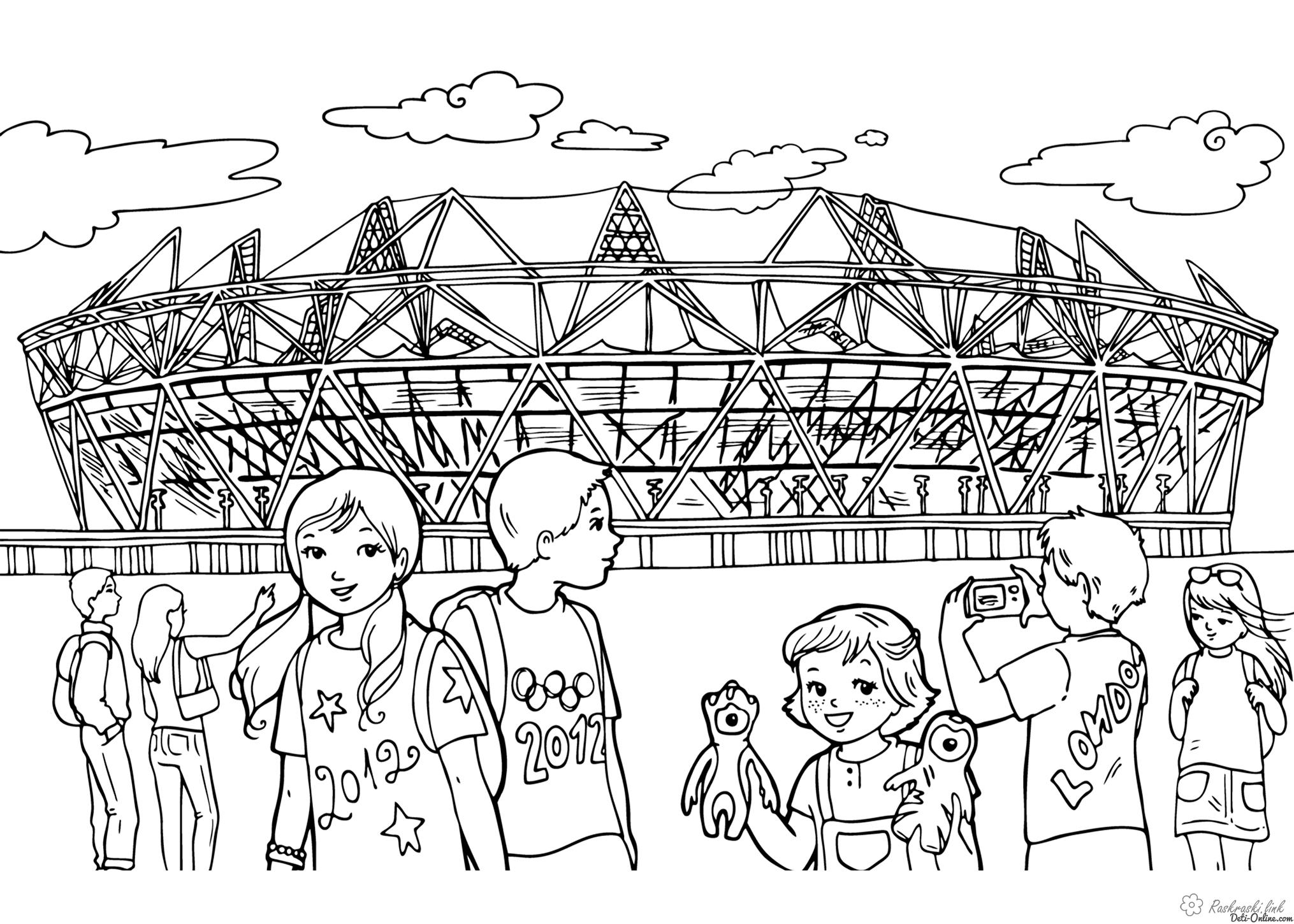 Coloring olympic coloring pages Olympic Stadium UK